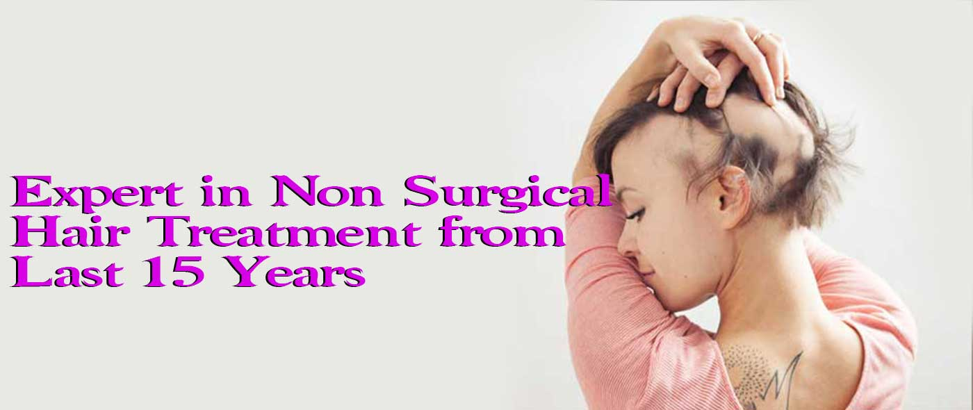 non surgical hair treatment banner